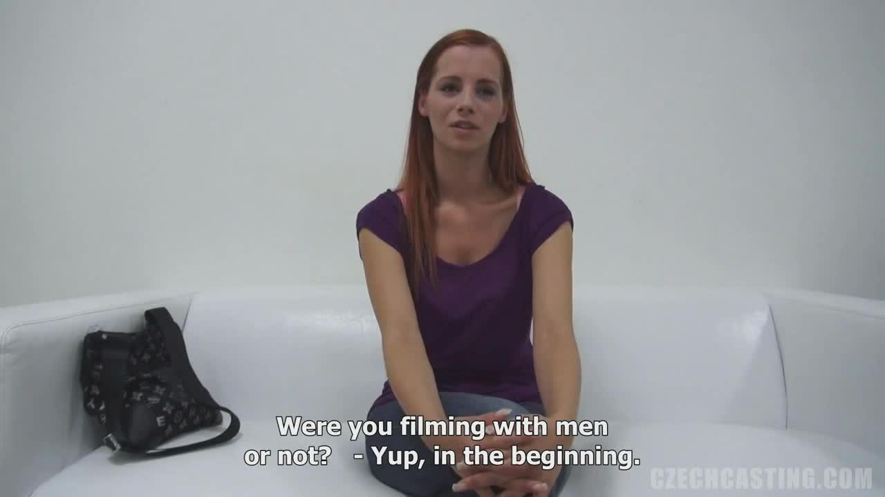 Женская мастурбация на кастинге