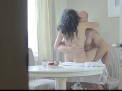 Бурный секс вместо завтрака с развратной супругой