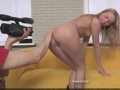 Секс кастинг блондинки с классным сексом